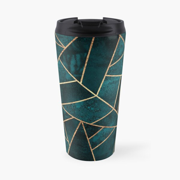 Deep Teal Stone Travel Mug