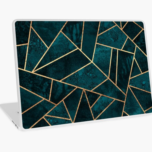 Deep Teal Stone Laptop Skin