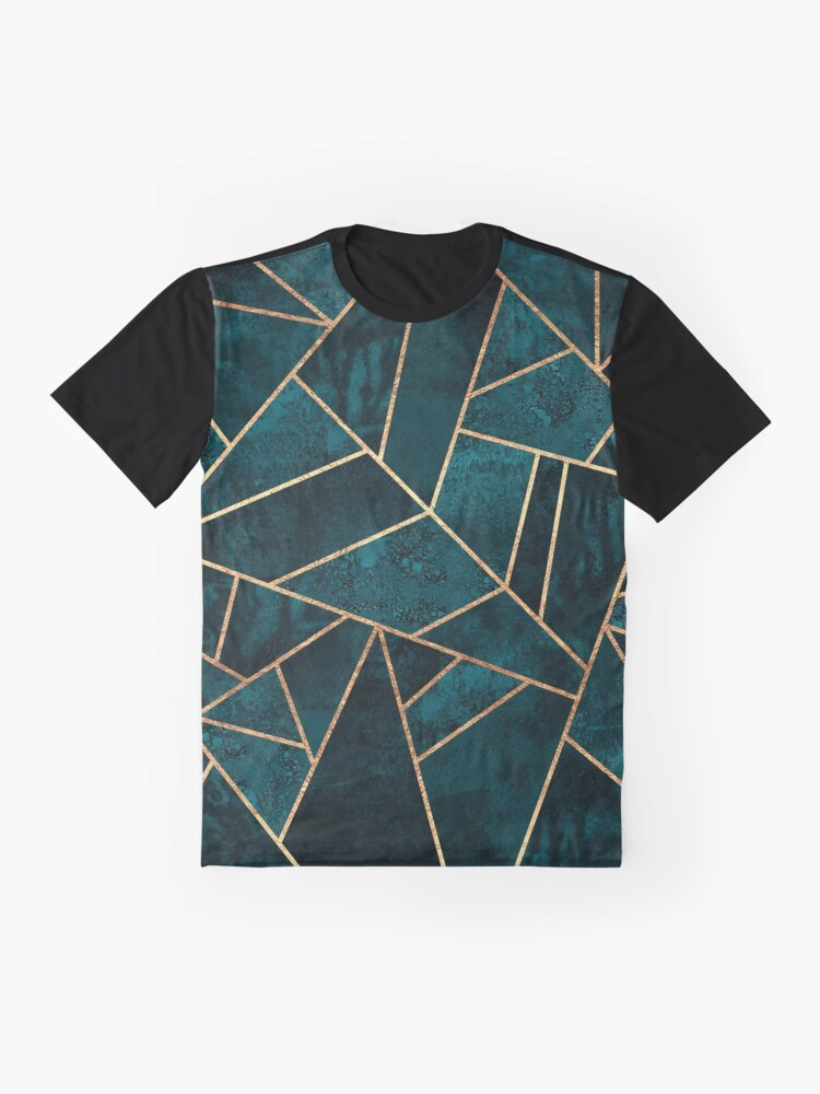 Alternate view of Deep Teal Stone Graphic T-Shirt