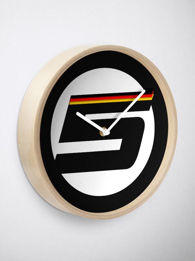 Alternate view of German '5' logo - small Clock