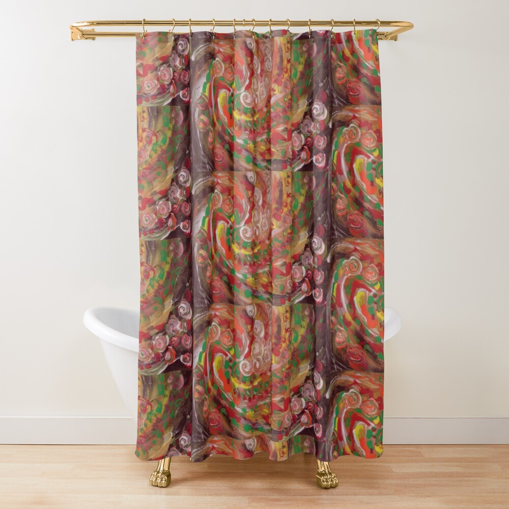 swirling curls abstraction Shower Curtain