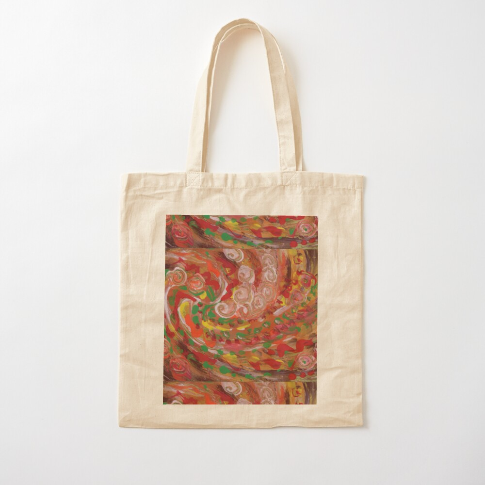 swirling curls abstraction Cotton Tote Bag