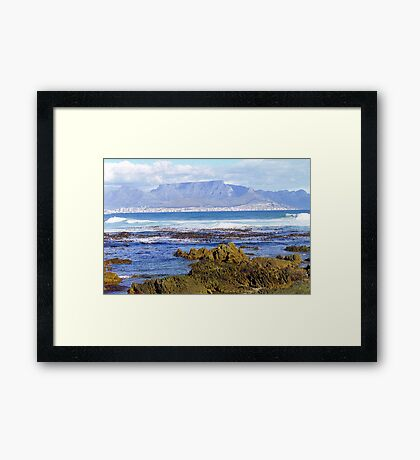 View of Capetown, South Africa from Robben Island Framed Print