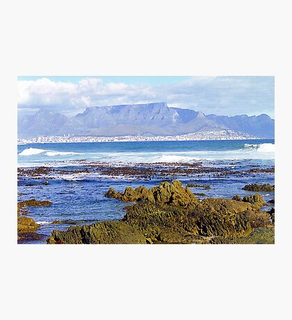 View of Capetown, South Africa from Robben Island Photographic Print