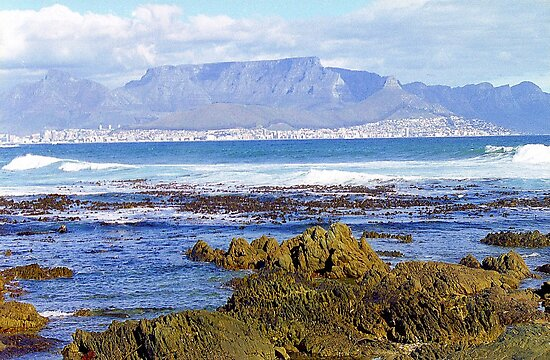 View of Capetown, South Africa from Robben Island by Alberto  DeJesus