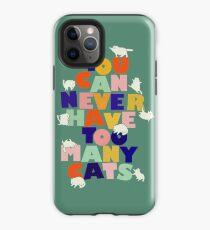 Man kann nie zu viele Katzen haben - bunte Typografie iPhone-Hülle & Cover