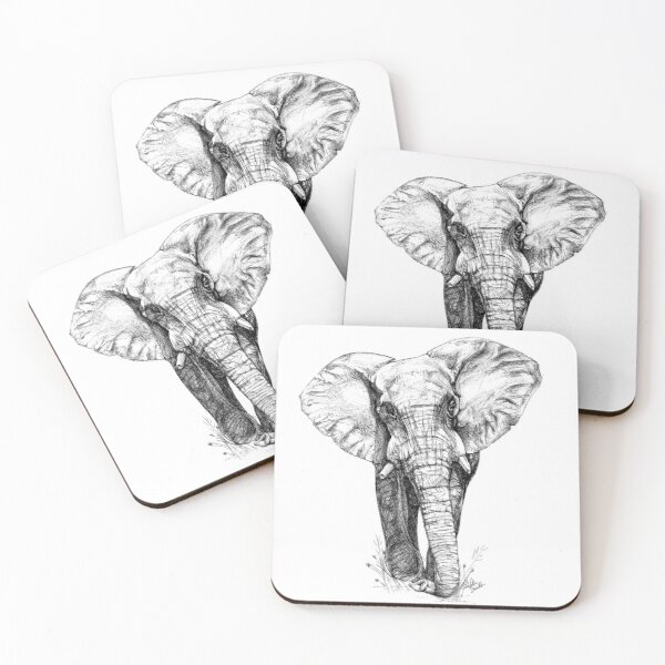 Majestic Elephant - Big 5 Series Coasters (Set of 4)