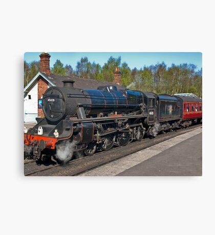"No 45428  ""Eric Treacy"" Steam Train  - Grosmont. Canvas Print"