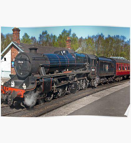 "No 45428  ""Eric Treacy"" Steam Train  - Grosmont. Poster"