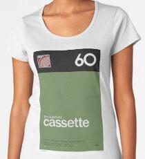 Compact Cassette C-60 Premium Rundhals-Shirt