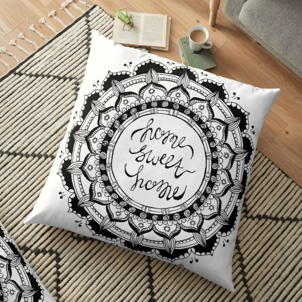 Home Sweet Home Mandala Floor Pillow