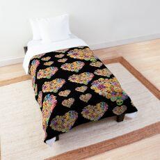 Sweet Heart Mosaic Emoji JoyPixels Lovely Heart Comforter