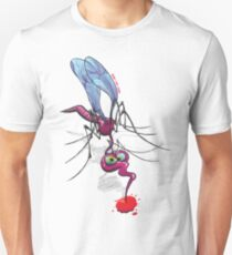 Mosquito Sucking Blood Slim Fit T-Shirt