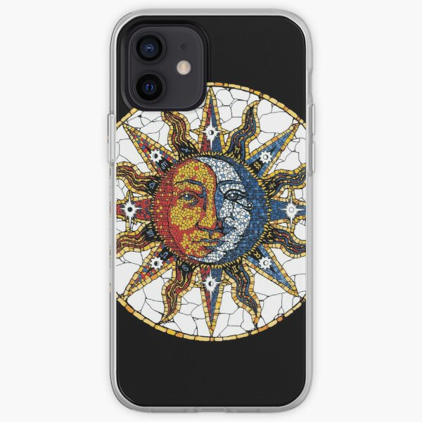 Celestial Mosaic Sun and Moon COASTER iPhone Soft Case