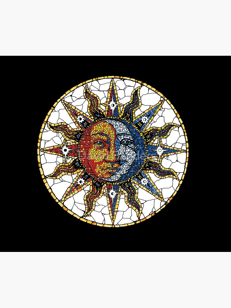 Celestial Mosaic Sun and Moon COASTER by sandersart