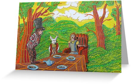 337 - THE MAD HATTER'S TEA PARTY - DAVE EDWARDS - COLOURED PENCILS - 2011 by BLYTHART