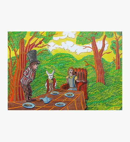 337 - THE MAD HATTER'S TEA PARTY - DAVE EDWARDS - COLOURED PENCILS - 2011 Photographic Print