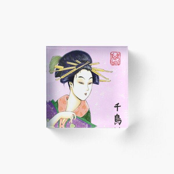 Elegance Utamaro Bloc acrylique