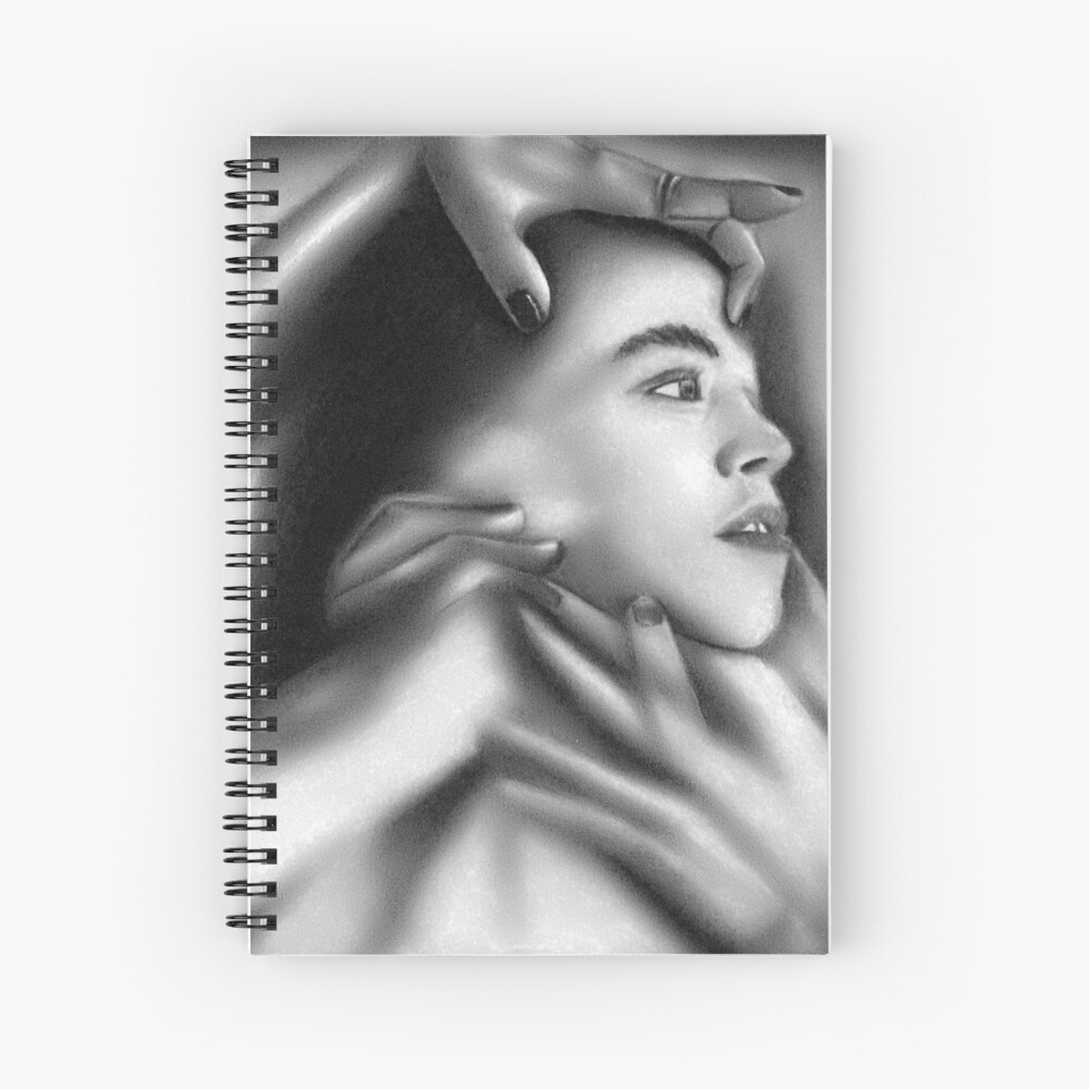 Death of a child (Charcoal drawing) Spiral Notebook