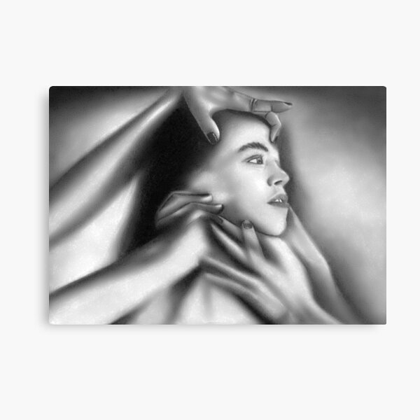 Death of a child (Charcoal drawing) Metal Print