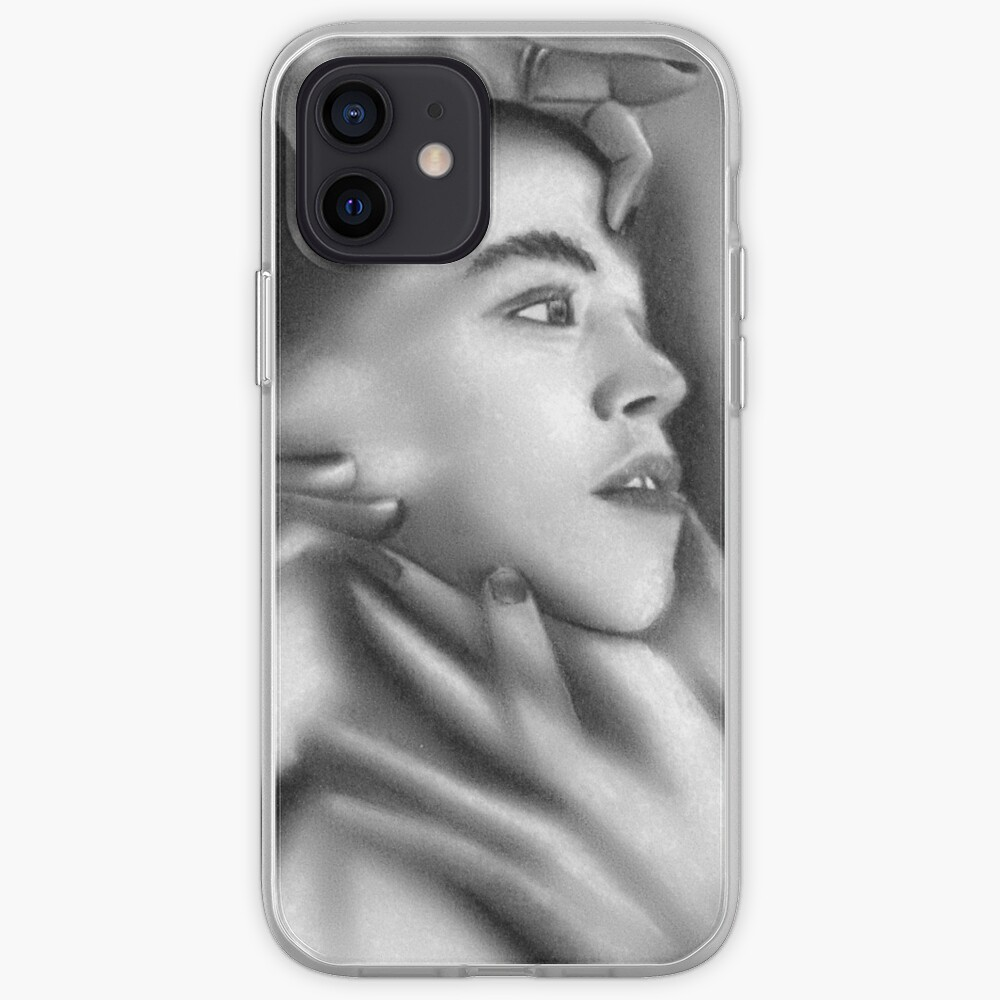 Death of a child (Charcoal drawing) iPhone Case & Cover