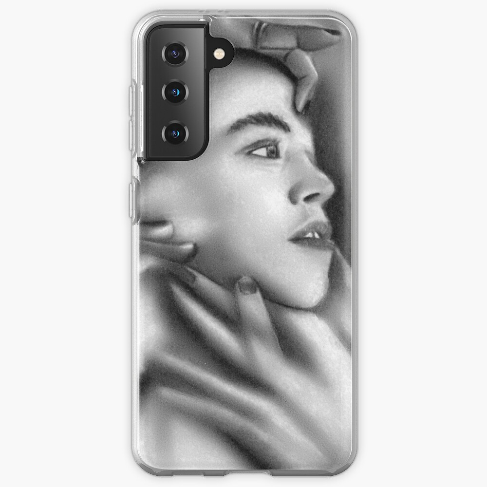 Death of a child (Charcoal drawing) Case & Skin for Samsung Galaxy