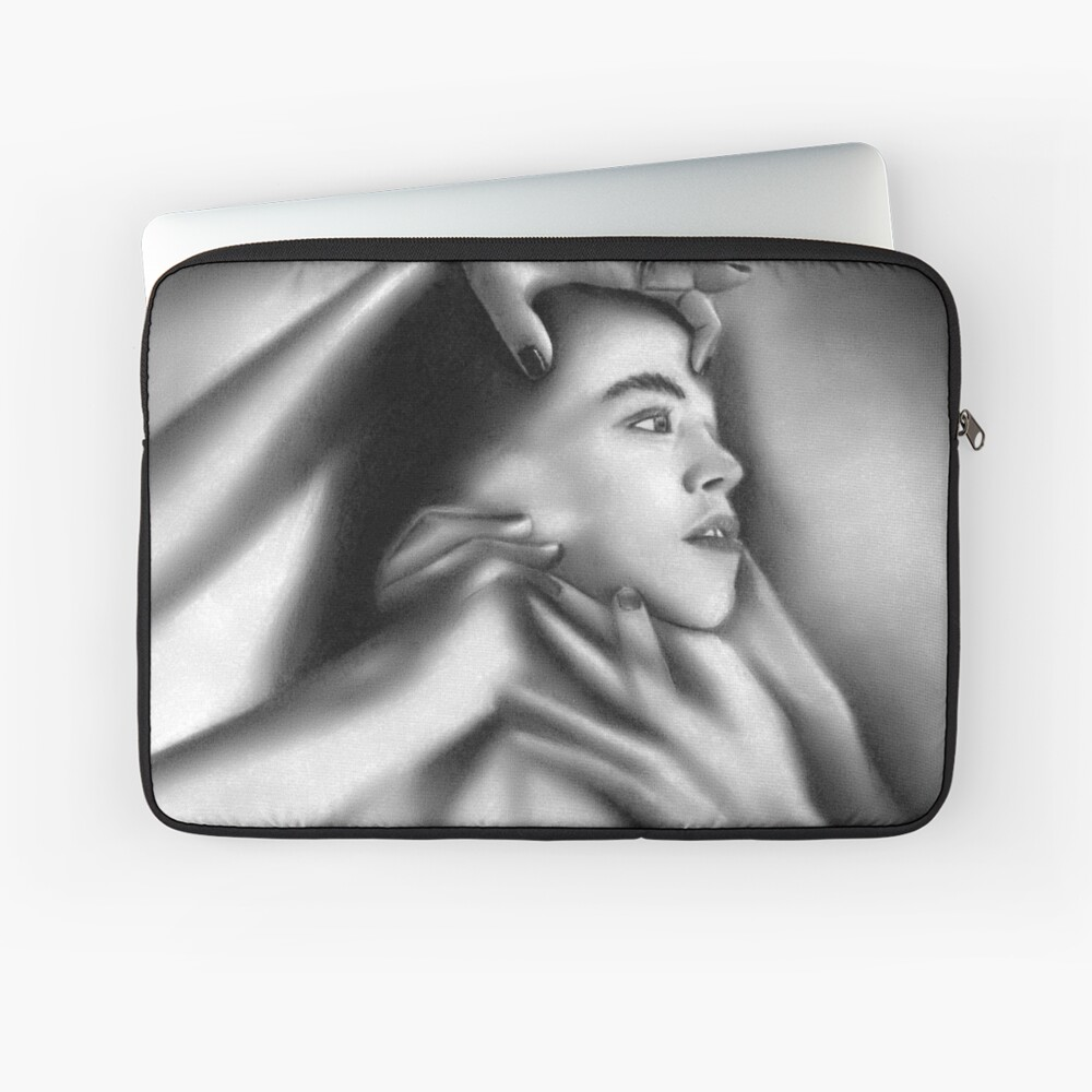 Death of a child (Charcoal drawing) Laptop Sleeve