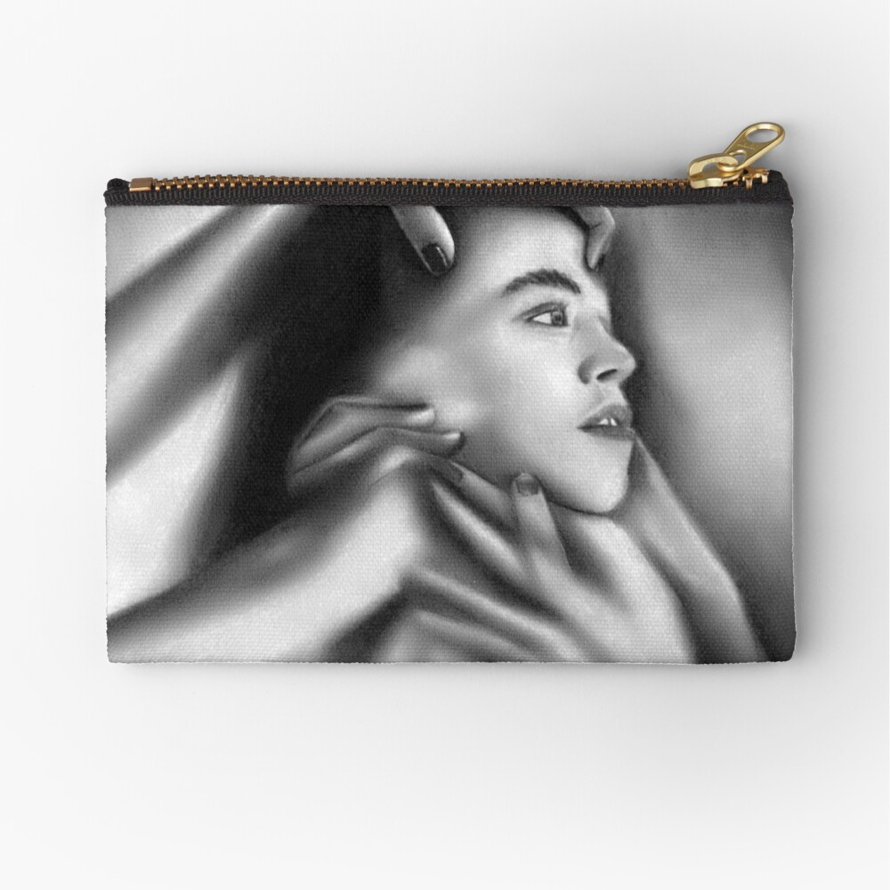 Death of a child (Charcoal drawing) Zipper Pouch