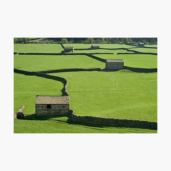 Gunnerside Barns - The Yorkshire Dales Photographic Print