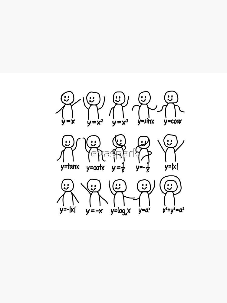 Funny Algebra Dance Graph Figures Math Equation  by evaspark