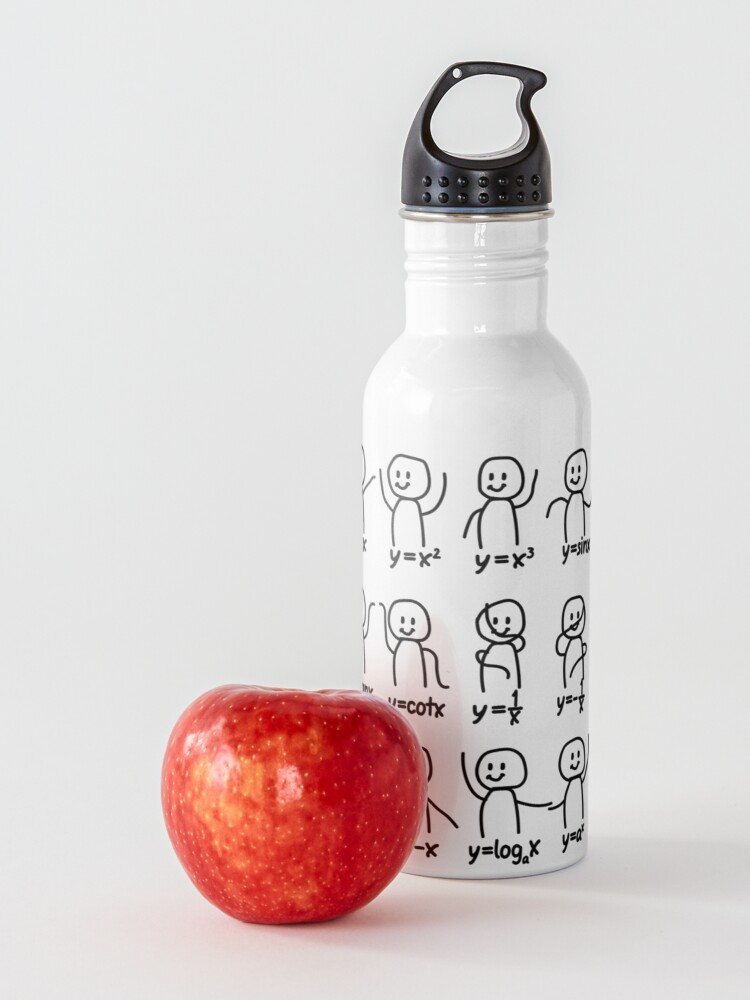 Alternate view of Funny Algebra Dance Graph Figures Math Equation  Water Bottle