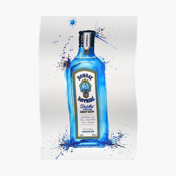 Bombay Sapphire Gin Bottle Poster