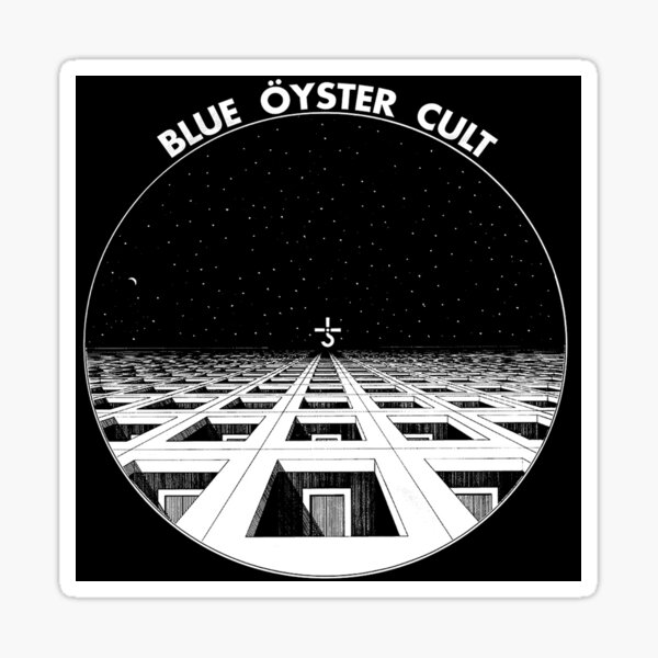 oyster rock blue oyster cult logo in stage Sticker