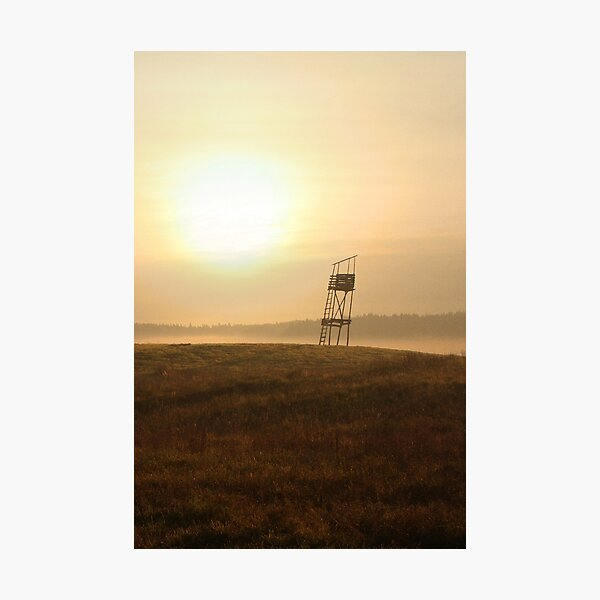 Old guard tower  in sunrise Photographic Print