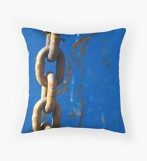 Chained Blues Throw Pillow