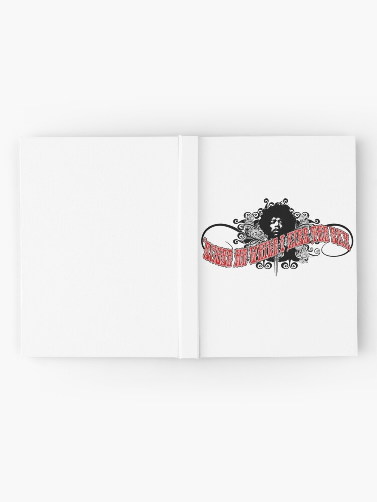 Alternate view of Jimi hendriks - Scuse Me While I Kiss The Sky Hardcover Journal