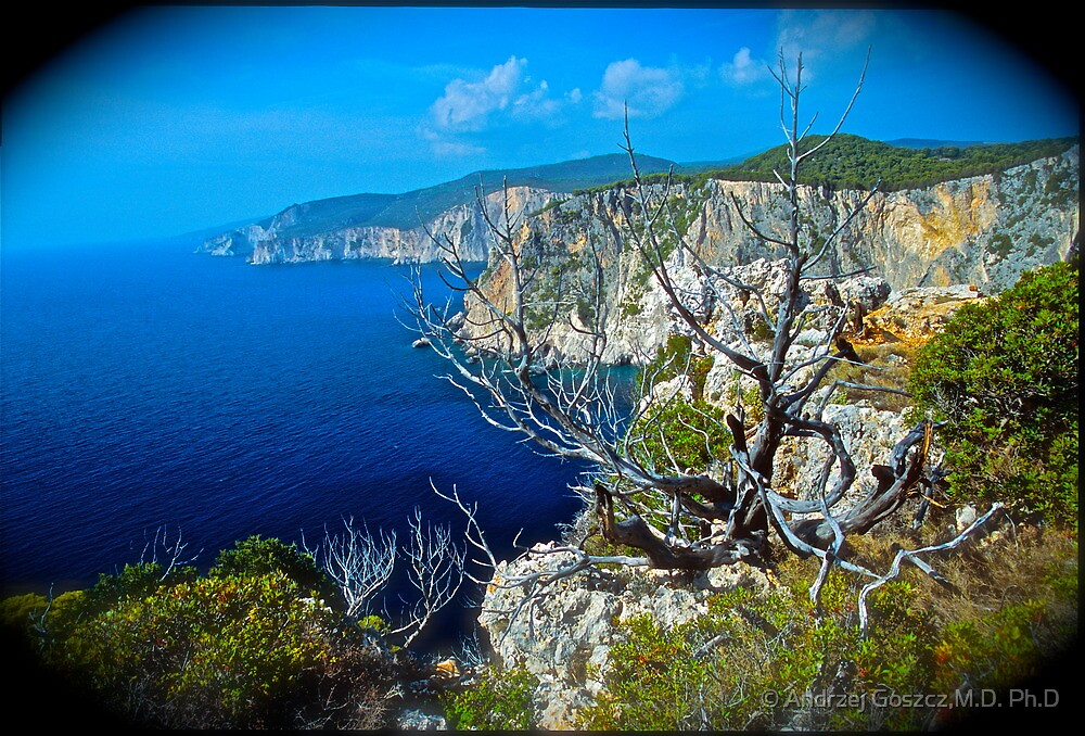 Bella Panorama .	 Cape Keri . Zakynthos . Greece.  Fujichrome Velvia 50 Slide Film  .  by Brown Sugar . Featured * Thanks so much !!! views (273)  favorited by (2)Thank you friends ! by © Andrzej Goszcz,M.D. Ph.D