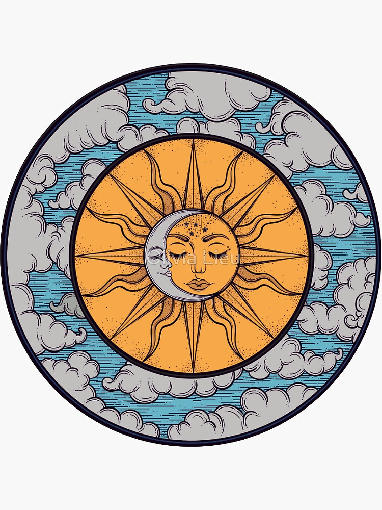 sun and moon sticker by olivial0624
