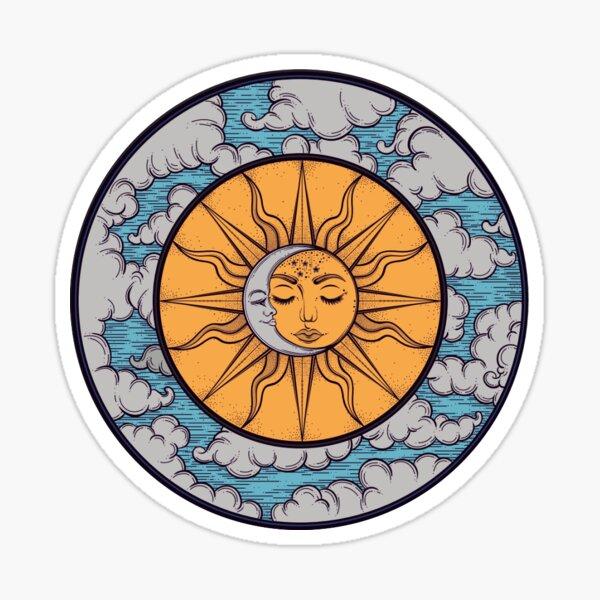 pegatina sol y luna Pegatina