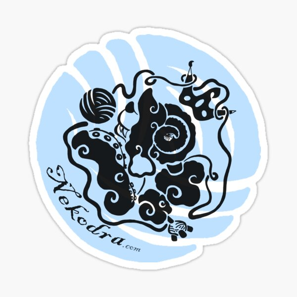 Nekodra's Logo Sticker