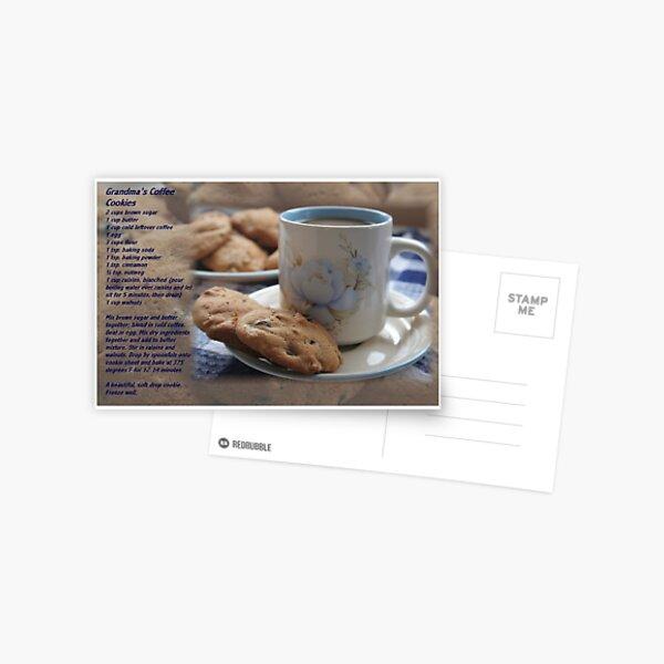 Grandma's Coffee Cookies (recipe) w/ white border Postcard