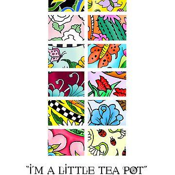 Tea Pot Collection Calendar Cover by DeepRedTiger