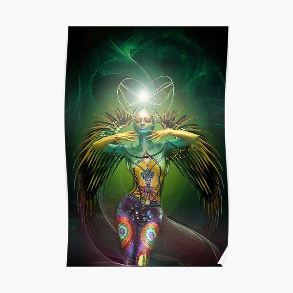 Green Phoenix Poster