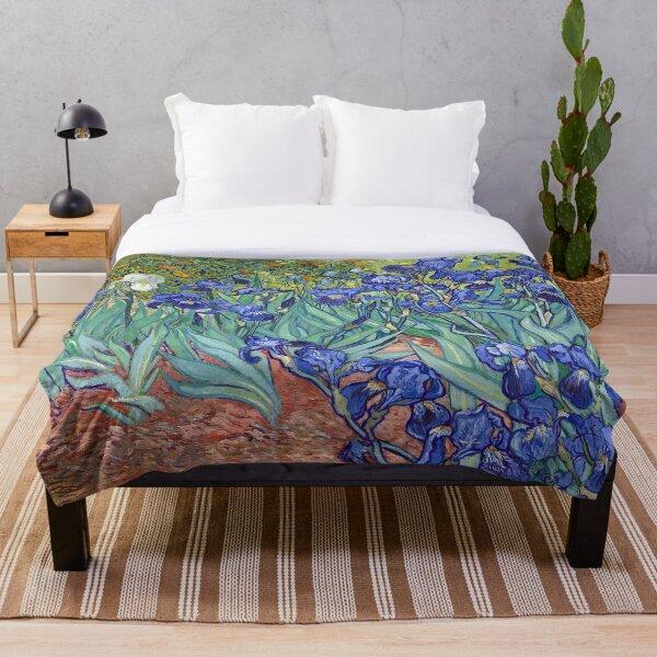 Van Gogh - Irises Throw Blanket