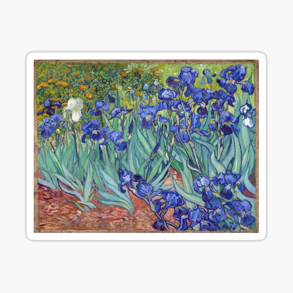 Van Gogh - Irises Sticker