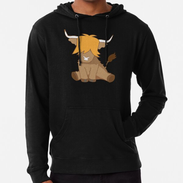Cute ginger Highland cow  Lightweight Hoodie
