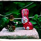 Indiana Jones and the Metal Pink Easter Bunny by Stéfan Le Dû