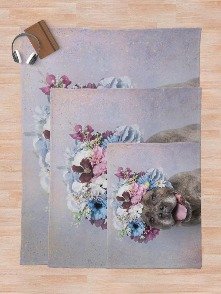 Alternate view of Flower Power, Rumple Throw Blanket