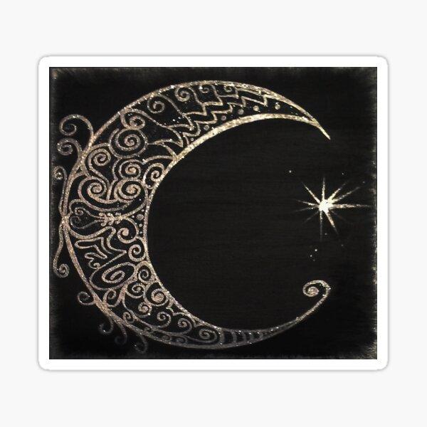 Silver Moon Sticker