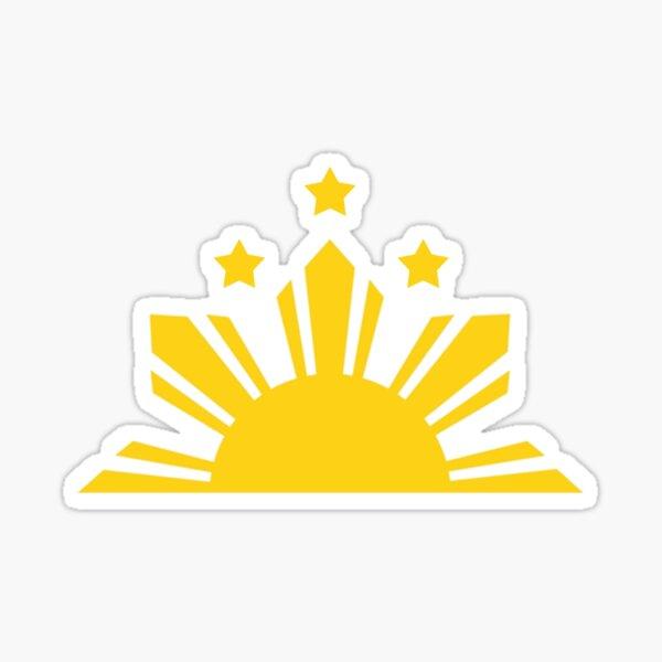 Filipino Sun and Stars Half Rising Sun Sticker